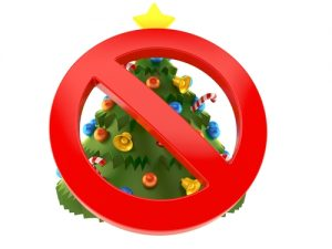 no Christmas trees