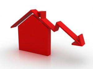 real estate market down